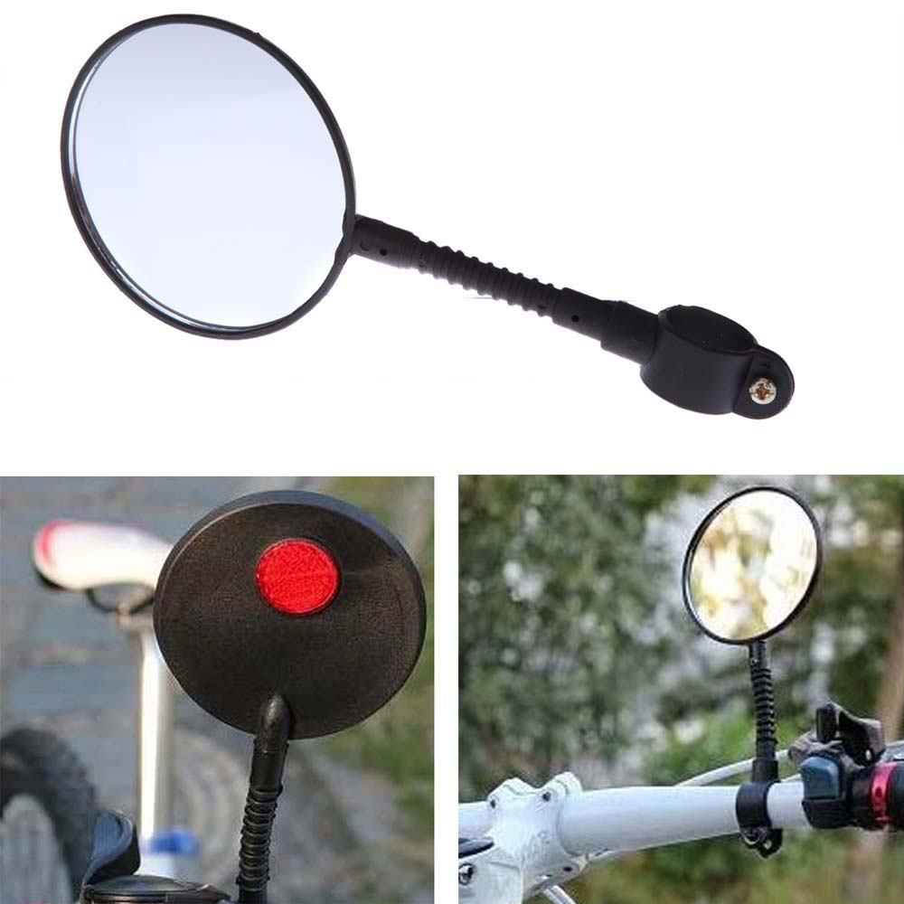 Mountain Road MTB Bike Bicycle Rear View Mirror Reflective Safety Flat Mirror Cycling Accessory(China (Mainland))