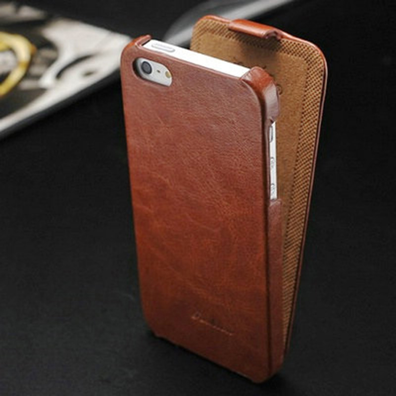 Vintage Flip PU Leather Case for iPhone 5 5S 5G SE Luxury Phone Bag Cover for iPhone5 New 2016 with FASHION Logo Business Style(China (Mainland))