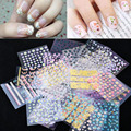 New Fashion 30 sheets Mix color 3D Floral Design Nail Art Stickers Decals decoration beautiful manicure