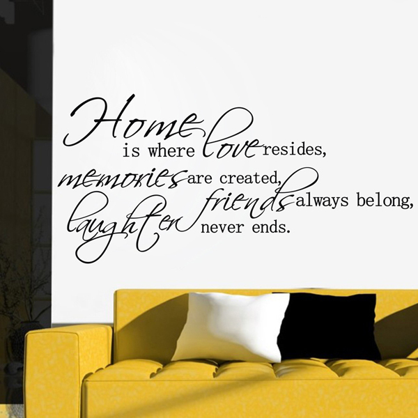 love never ends wall decals quotes vinyl removable