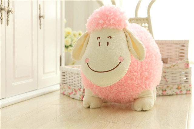 middle size cute plush sheep toy new creative pink dolly sheep doll about 35cm(China (Mainland))
