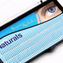 Navina 2 Roots V Type False Eyelashes 0.1mm C curl 8/10/12mm Nature Sofe Fake Eyelash Extension Lashes Makeup Tool(China (Mainland))