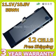 58WH 11.1V laptop battery for apple A1321 for MacBook Pro 15″ MB985J/A MB985 MB986J/A MC118 MC118*/A  MC118X/A+screwdrivers