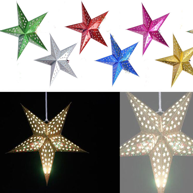 60cm 24 inch shiny star Paper lampshade lanterns flower Party Decor Craft For Wedding Decoration colorful Wholesale(China (Mainland))