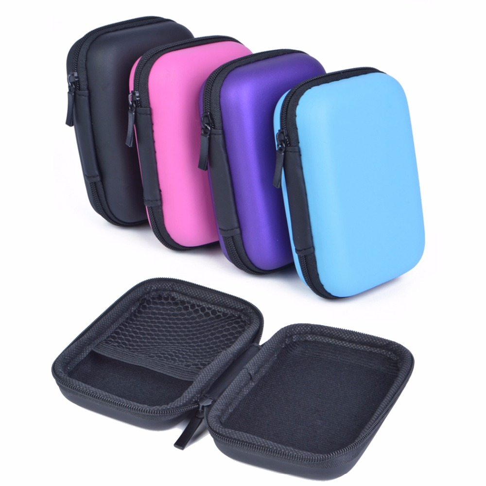 Cellphone Accessories Portable Carry Case Hard EVA Anti-knock Storage Box for Cellphone Chargers Cables Earphones and More Black(China (Mainland))
