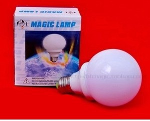 Magic bulb red light controlled by magnetic power bulb bright by mind magic lamp magic tricks