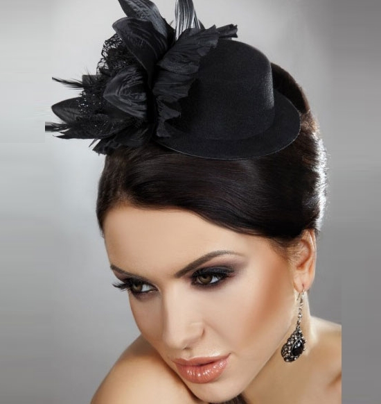 New 2014 Royal Fashion Veil Fascinator Feather Flowers Mini Cocktail Hats Birdcage Visor Bridal Hair Accessories Women WIGO0150(China (Mainland))
