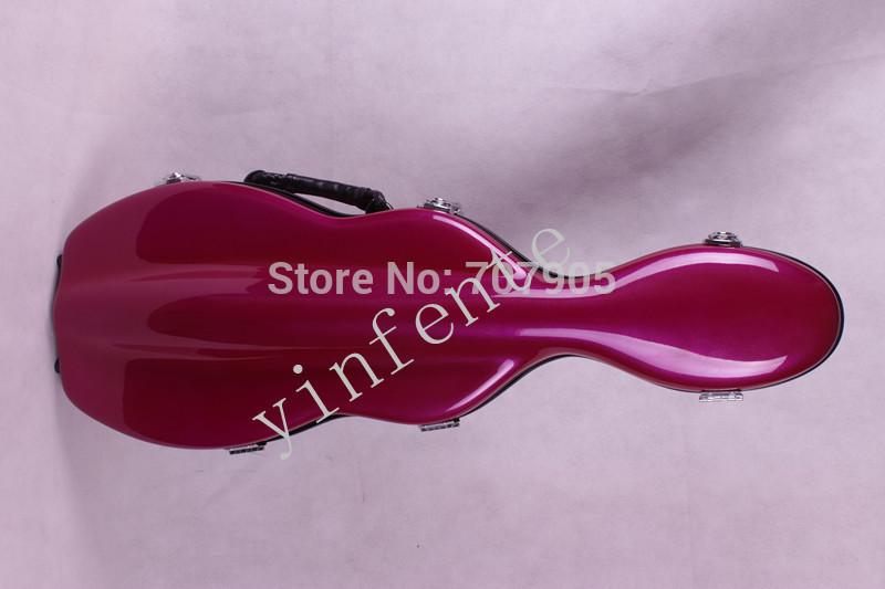 dark pink 4/4 Violin case Glass Fiber Soft Imitate Leather Skin 01 #GF221<br><br>Aliexpress