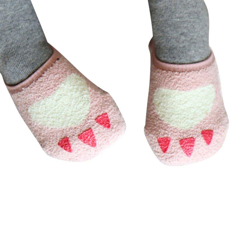 Toddler Baby Girl Warm Coral Velvet Non Slip Socks Slipper