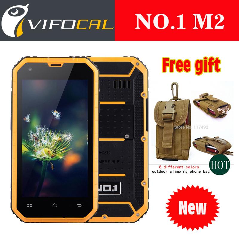 "New Original NO.1 M2 Rugged Waterproof IP68 Phone 4.5"" IPS Android 5.0 MTK6582 Quad Core 1GB RAM 8GB ROM 13MP WCDMA Mobile phone(China (Mainland))"