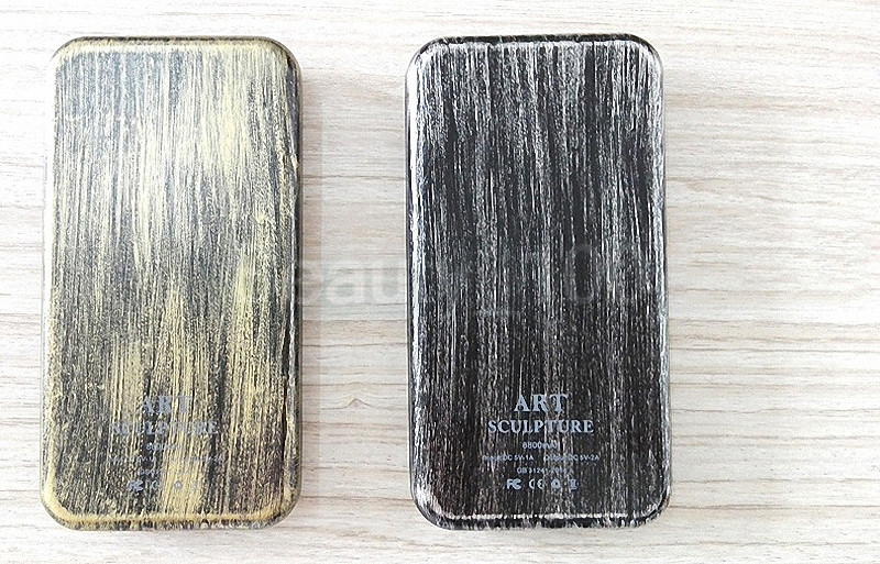 New Power Bank 6000mAh Portable Metal Case Li-Polymer External Battery Charger Powerbank For All Phones With Retail Package