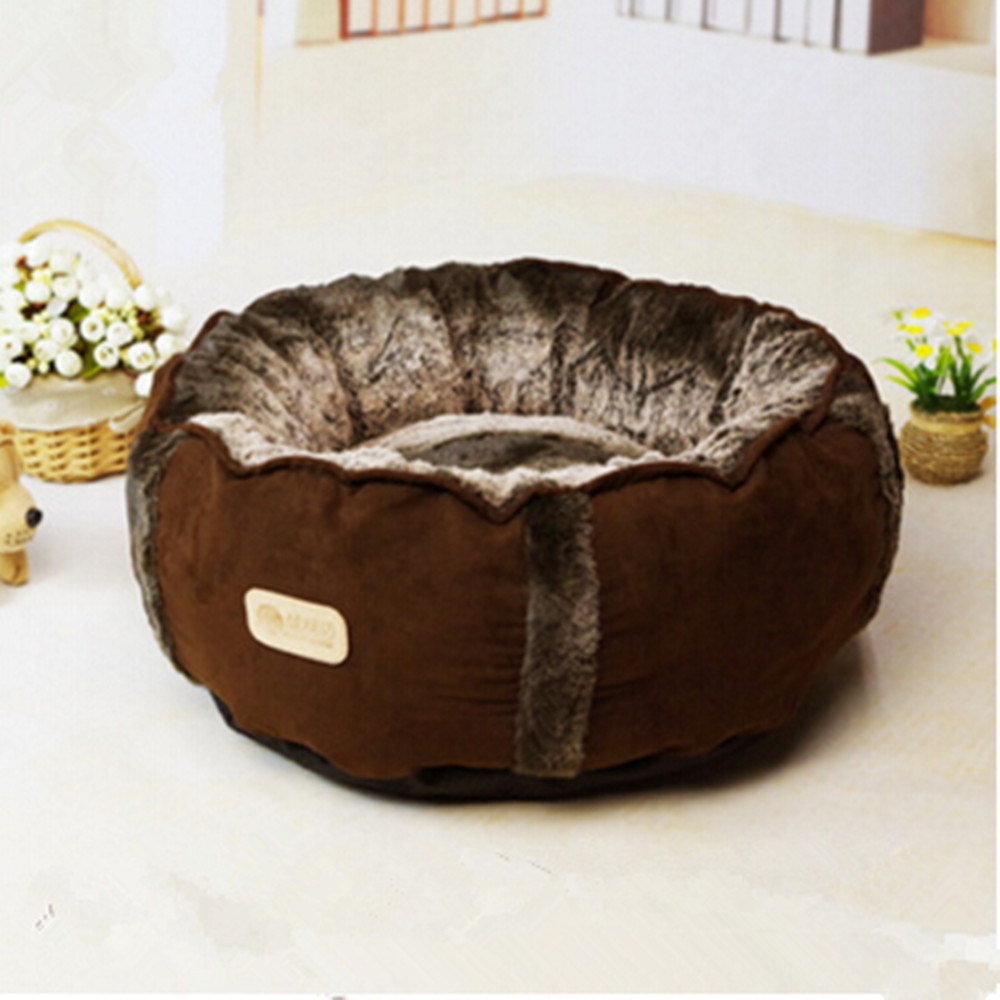2016 New Arrival Round Dog Bed Soft Pets House Warm Puppy Cat Kennel