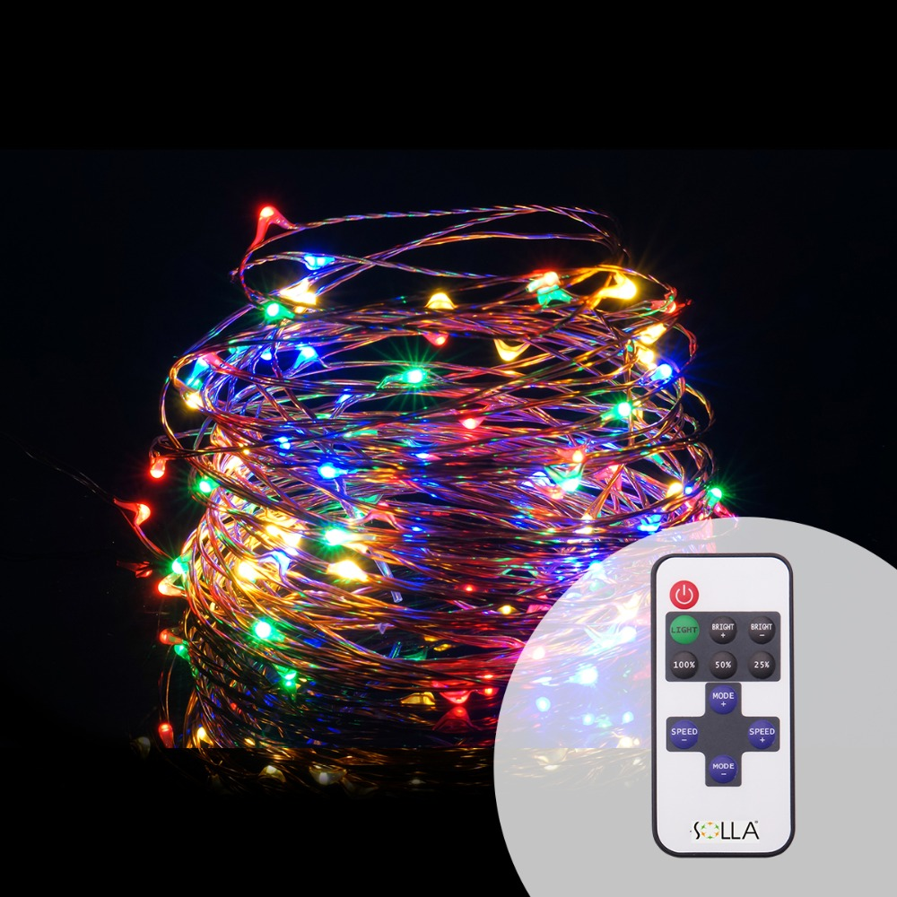 Led String Lights Dimmable : Indoor Outdoor 10M 33FT 100 Led USB Christmas Copper Wire Fairy String Light luces +Dimmable ...