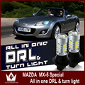 Night Lord For Mazda MX 5 LED turnlight 20smd DRL Daytime Running Lights Front Turn Signals