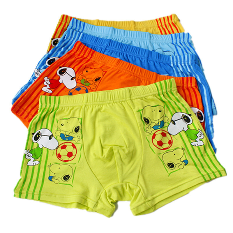 10PCS/LOT Baby Kids Pants The Cartoon Football Cool Next Bamboo Fiber Boxer Underwear Boy Briefs Shorts Pants For Children 0803(China (Mainland))