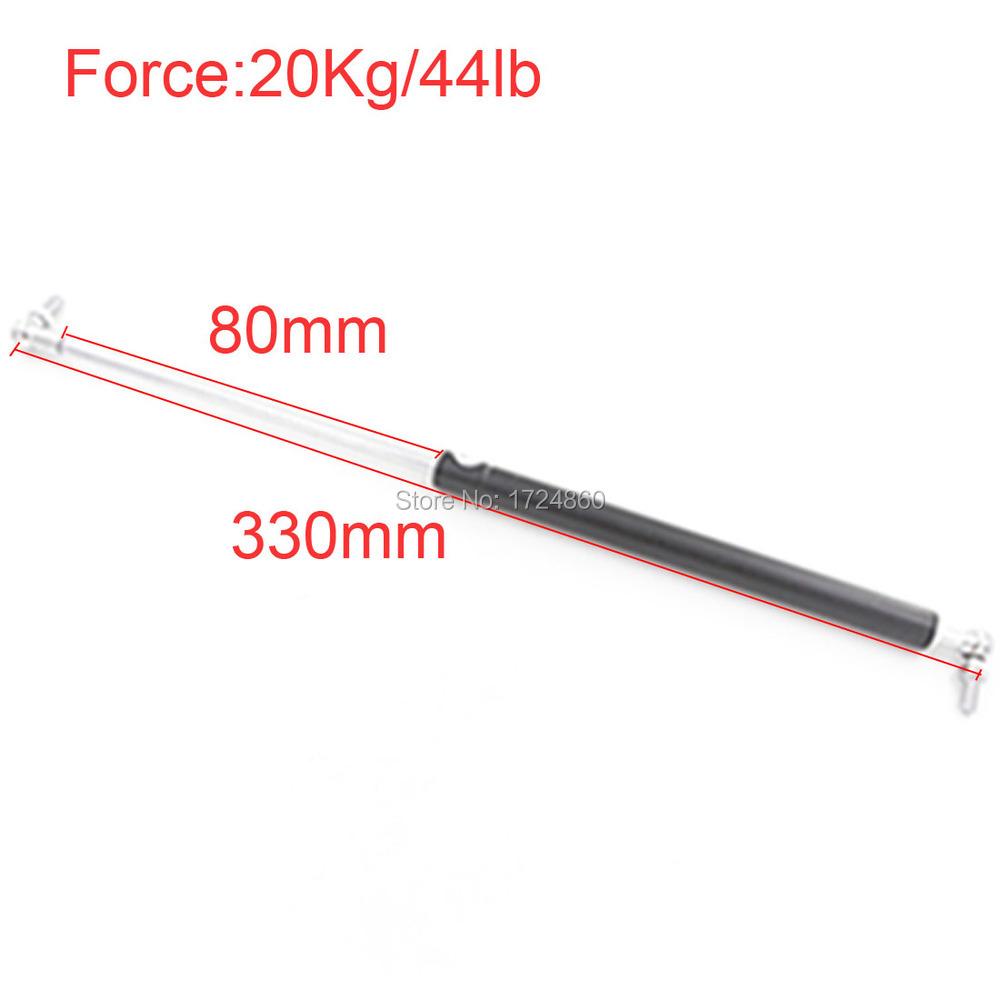 20KG/44lb Force 80*330mm Gas Spring Ball Studs Lift Strut Damper for Furniture Car Gas Strut Door 330mm Central Distance<br><br>Aliexpress