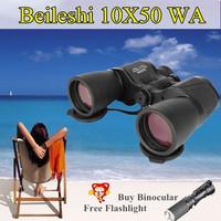 Beileshi 10X50 High Power Jumelles Binocular Night Vision Not Infrared view Porro Prism Opera Glasses Telescopio Visores caza