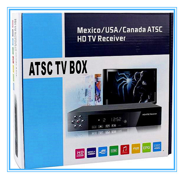 New HD PVR Digital MPG4 H.264 ATSC TV Tuner 1080P Chinese TV Box Receiver support USB/HDMI for Mexico/USA/Canada(China (Mainland))