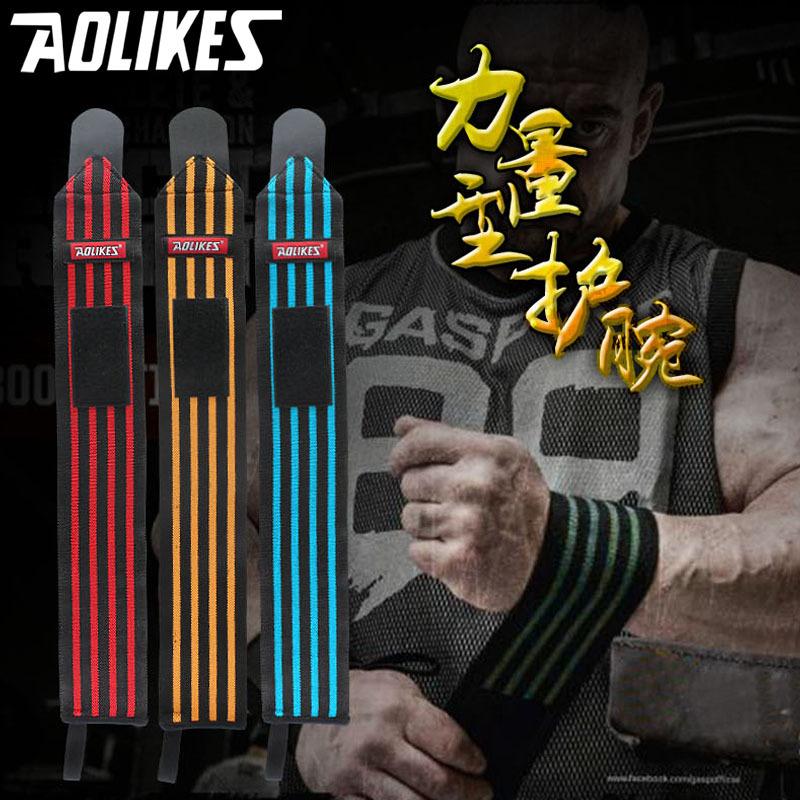 sport cotton elastic bandage hand sport wristband gym support wrist brace fitness tennis polsini sweat band munhequeira 1pcs(China (Mainland))