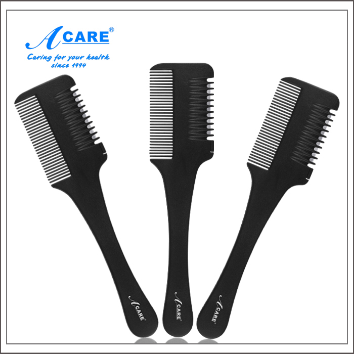 ACARE Razor Comb W/Blade in Comb Hair Cutter Cutting Hair Comb with High Quality Pocket Folding Mirror(China (Mainland))