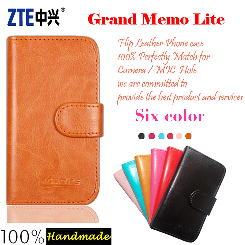ZTE Grand Memo Lite Case Fashion Flip Leather Phone Case Cover Multi-Function Stand Function Luxury Leather Wallet Design Bags(China (Mainland))