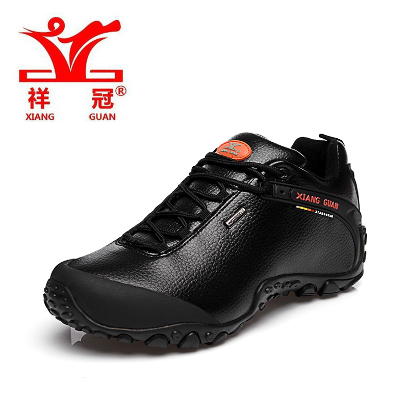 XiangGuan 2016 new men low hiking boots,top quality genuine leather outdoor activity shoes Lichee Pattern shoes 81996 size 39-45