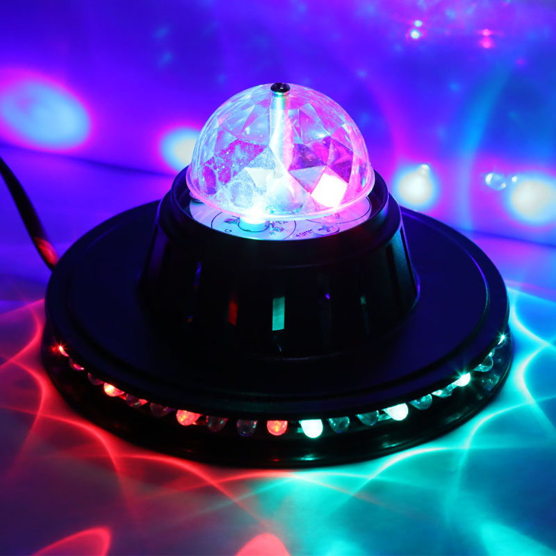Mini RGB LED DJ Club Pub Disco Party Music Crystal Magic Ball Stage Effect Light NVIE<br><br>Aliexpress
