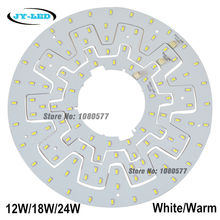 12W 18W 24W LED Ceiling Light Ring Panel SMD 5730 LED Round Ceiling Board Circular Lamp Board With Magnet Screw + Driver(China (Mainland))