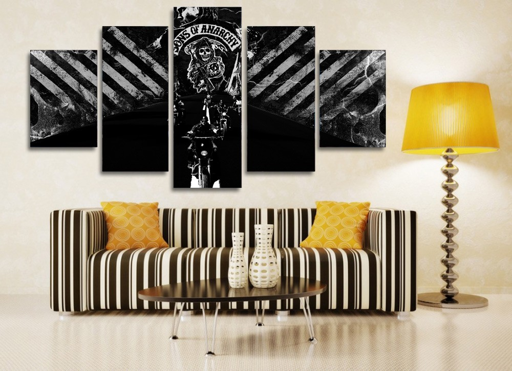 2016 fallout wall art best selling sons of anarchy the gunners painting canvas print room decor - Home decoration wholesale paint ...