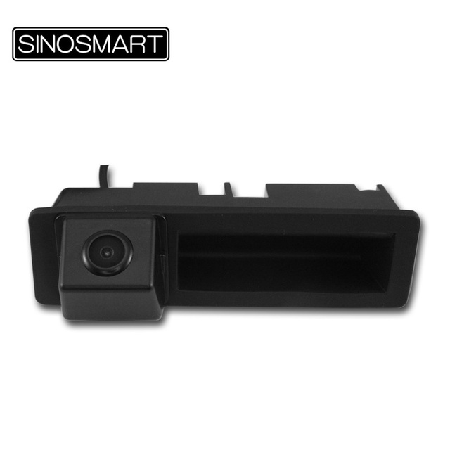 SINOSMART In Stock HD Car Rear View Parking Reverse Camera for Audi A8L A3 Q7 A6L with Factory Original Size Trunk Handle