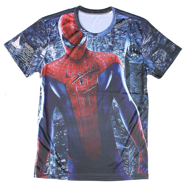 Popular 3d spider man men t shirts cool 4xl pattern for Printable t shirts wholesale