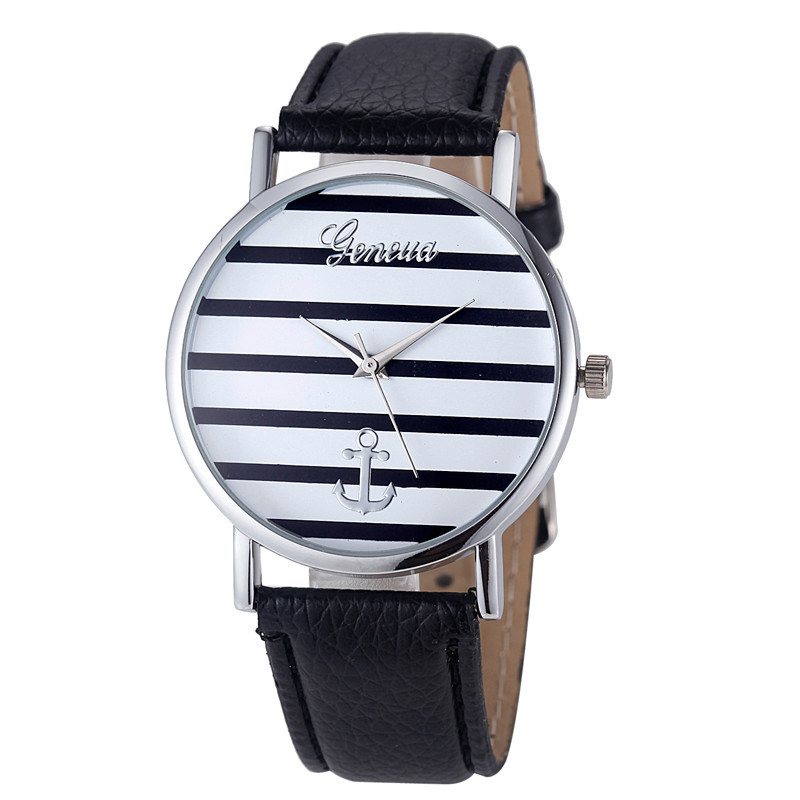 Гаджет  1 PC Women Watches Striped Anchor Analog PU Leather Relojes Mujer 2015 Quartz Watch Montre Femme Wrist Watch Relojes A3 None Часы