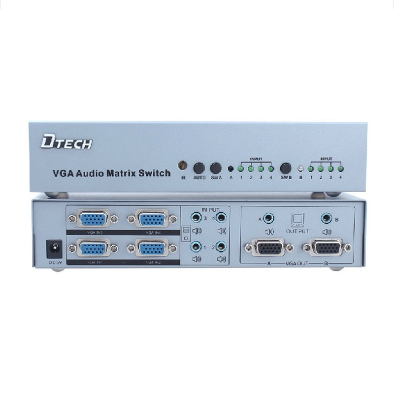 DT-7026 vga matrix of four into two Crossbar Switch automatically switches the video multi-screen display(China (Mainland))