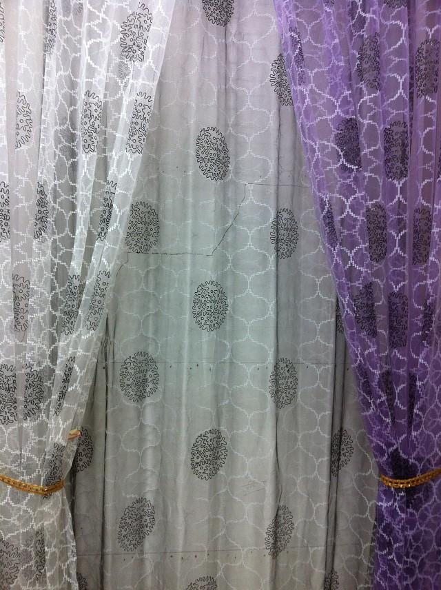 cs 02 280cm high long peony pattern voile curtain fabrics