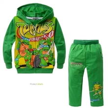 TMNT Children boy Clothes With Hoodie Teenage mutant ninja turtles Children Clothing Set Boys Kids Clothing