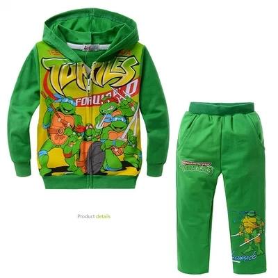 TMNT Children boy Clothes With Hoodie Teenage mutant ninja turtles Children Clothing Set Boys Kids Clothing and Child Boy(China (Mainland))