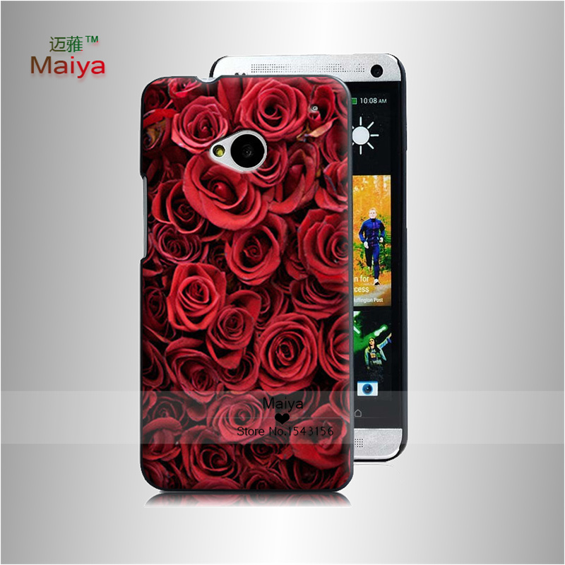 Flower Market 3 Transparent Hard Hard Plastic Original case For Htc One m7 m8 m9 m9plus x9 Cover With(China (Mainland))