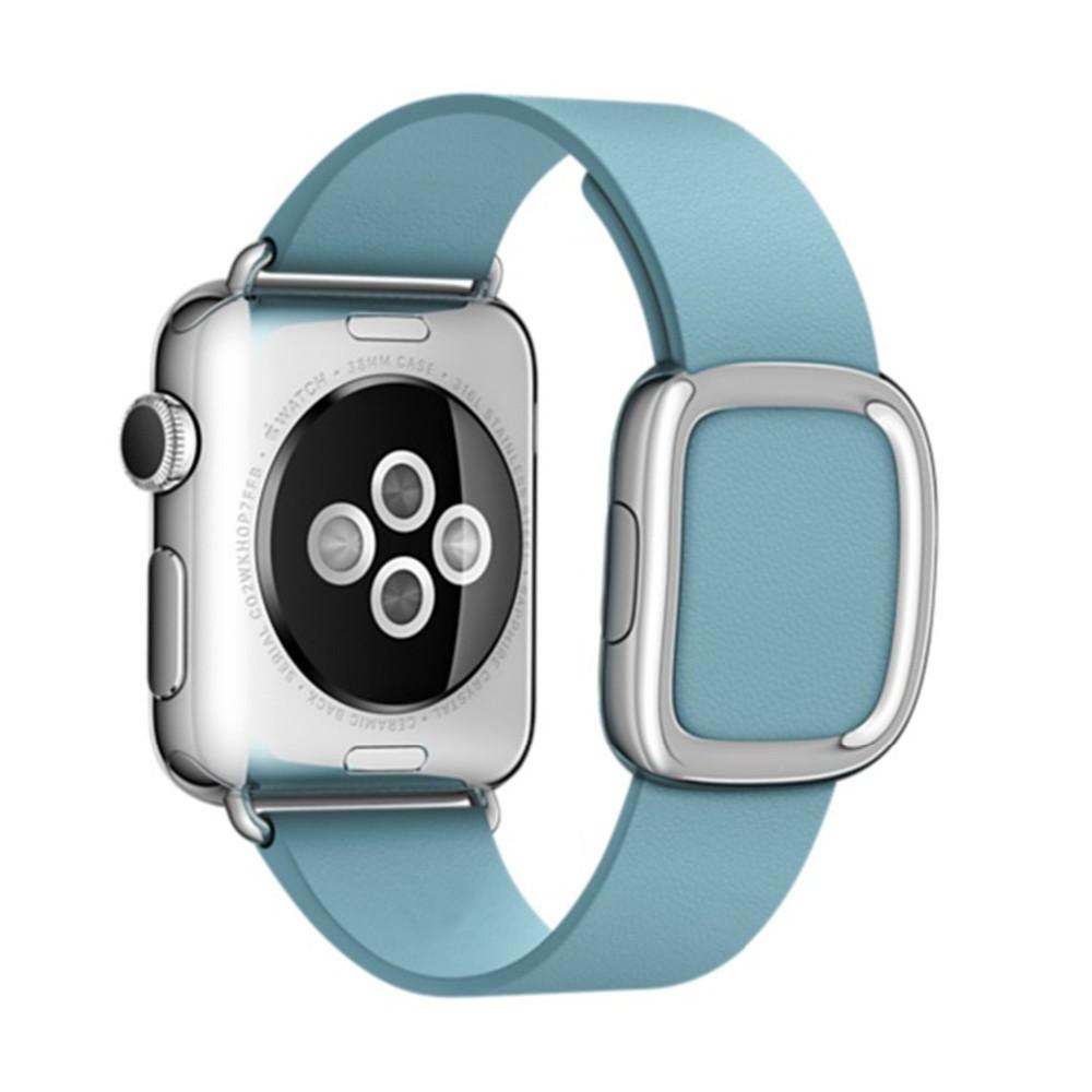 Для Apple Watch Band Современные Пряжка Ремешок для Apple Watch 38 ММ 42 ММ Гладкой Гранада кожи с двух частей магнитным замком