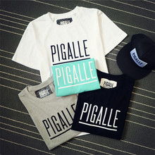 Pigalle Print Letters Men T shirt Hip Hop Skateboards Tshirt Homme Streetwear Crossfit Tops Clothing Camisetas Hombre GM2593