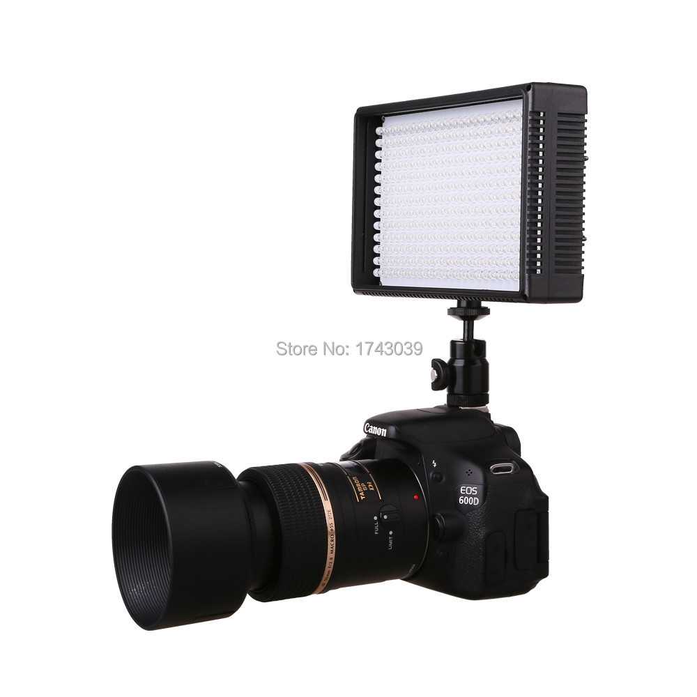 On-Camera 312 Beads LED Video Light Lamp Dimmable for Canon Nikon Pentax DSLR Camera Video Camcorder With Adapter(China (Mainland))