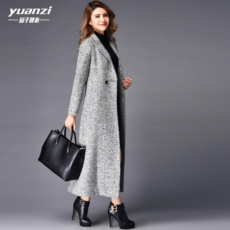 2016 Winter Fashion Plus Size Double Breasted Cashmere Overcoat Women Slim X-Long Design Woolen Trench Coat