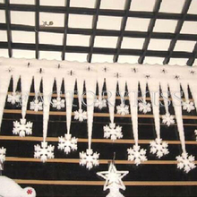 2 Pieces White Ice Strip With Snowflake Christmas Xmas Decoration Ornament Festival Party