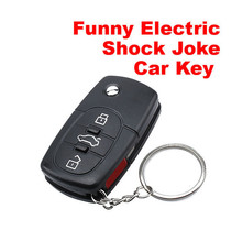 BS#S Electric Shock Gag Joke Prank Car Key Remote Control Fun with LED Light Electronic Toys Free Shipping(China (Mainland))