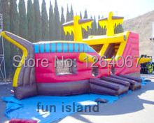The Newest Design Painting Pirate Ship Inflatable Slide for Sale(China (Mainland))
