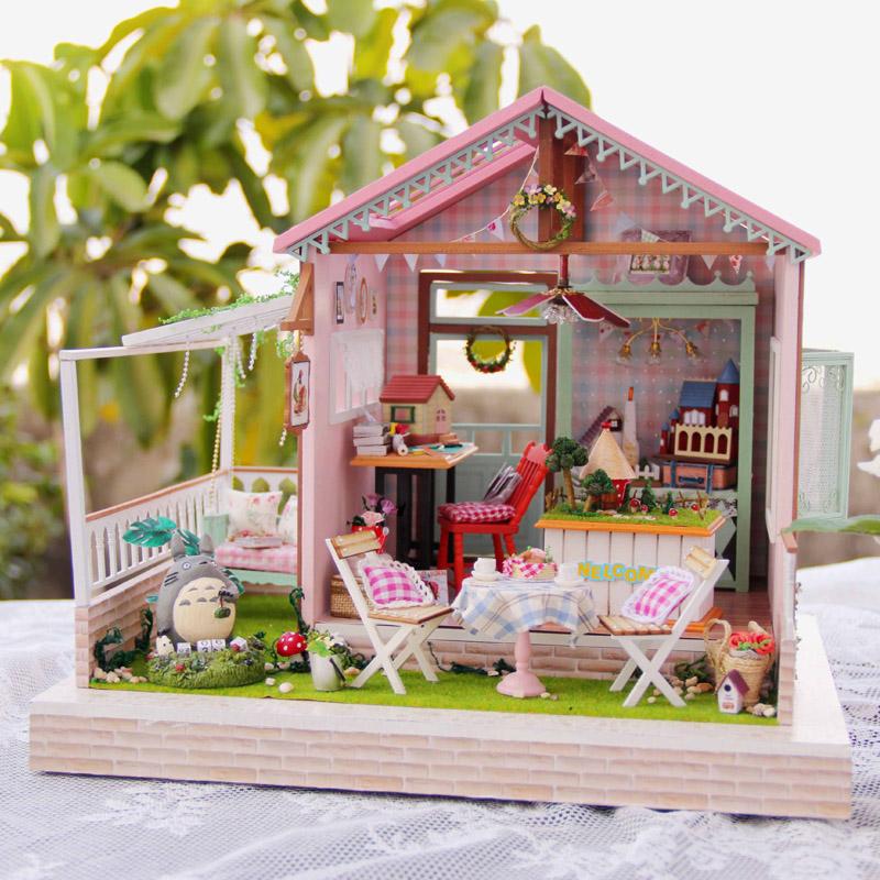 Fun house DIY cottage Dream Park Dollhouse handmade model house music box to send his girlfriend Li Totoro<br><br>Aliexpress