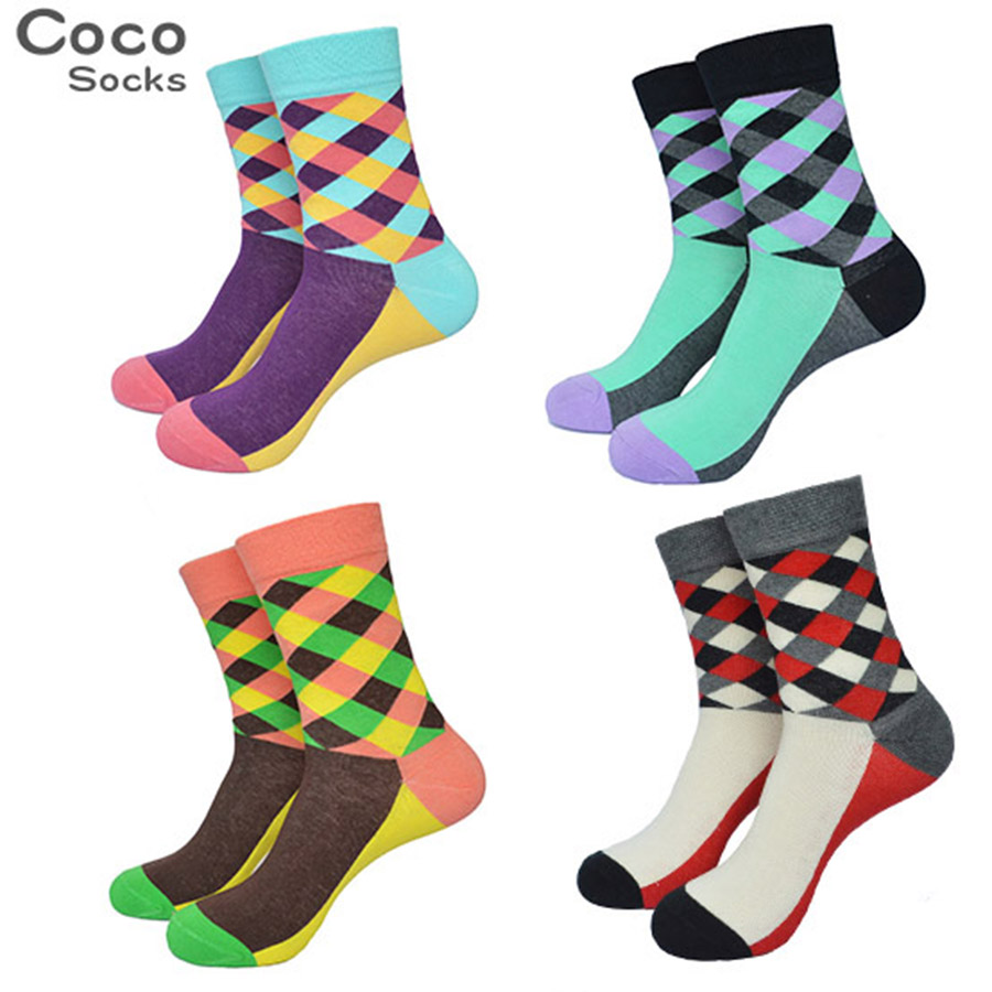 2015 cool colorful strip summer style candy color happy socks cotton business casual fashion odd future socks for men 003wОдежда и ак�е��уары<br><br><br>Aliexpress