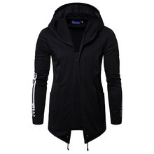 AKSR новый мужской с капюшоном тонкий Спортивный Повседневный принт модный свитер ассасина длинная однотонная куртка(China)
