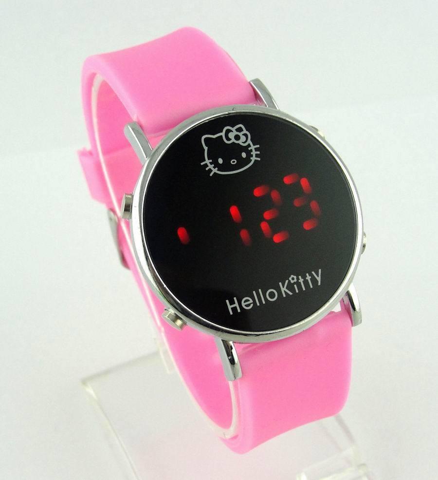 Electronic 2015 New Fashion Brand Children Digital Watches Men Women Dress Watches Silicone Led Hello Kitty Cartoon Watch Hot(China (Mainland))