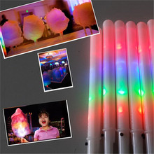 Buy 100pcs/lot 28*1.75CM Light toys party Cheer led Stick flash glow Cotton Candy Stick Concerts Night decoration supplies for $67.77 in AliExpress store