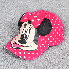 New Fashion Lovely Spring&Summer New Boys Girls Children Adjustable Hats Mouse Baseball Hip-Hop Cap Sun Hat Peaked Caps(China (Mainland))